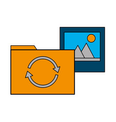 folder file picture data reload vector image