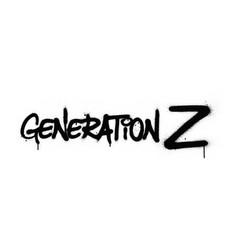 Graffiti generation z text sprayed in black vector