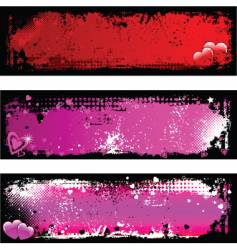 Grunge Valentine's backgrounds vector