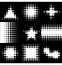 Halftone Dotted Shapes Logo Design vector image