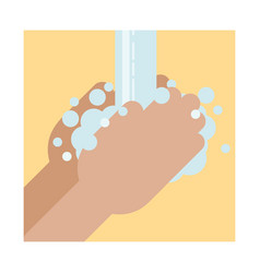 Hands washing washing hands with soap under vector