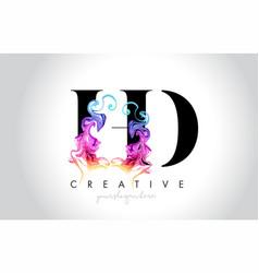 Hd vibrant creative leter logo design with vector