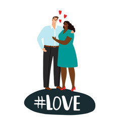 international couple in love positive love vector image