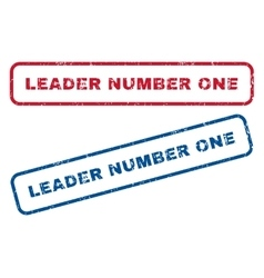 Leader Number One Rubber Stamps vector