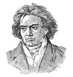 Ludwig van beethoven vintage vector