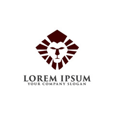 Luxury lion logo design concept template vector