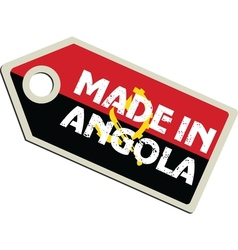 Made in Angola vector image