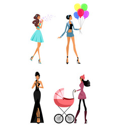 modern women in different situations vector image