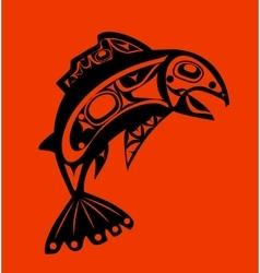 Native fish vector image