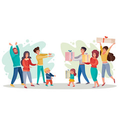 one group people men and women joyfully gives vector image