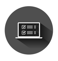 Online survey sign icon in flat style vector