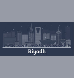 outline riyadh saudi arabia city skyline vector image