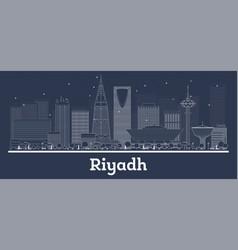 outline riyadh saudi arabia city skyline with vector image