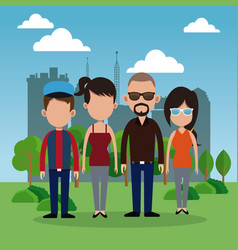 People park city background vector