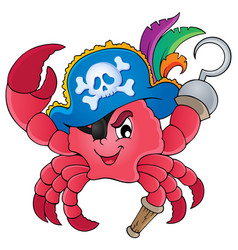 pirate crab theme image 1 vector image
