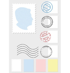 postage stamp set vector image
