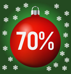 red christmas sale ball icon new year and xmas vector image