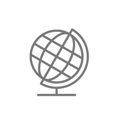 school globe earth model line icon vector image