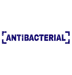 Scratched textured antibacterial stamp seal inside vector