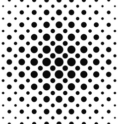 Seamless black and white dot pattern vector