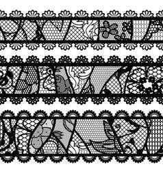 Set of lacy vintage trims vector