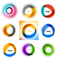 Set of loop infinity business icons abstract vector