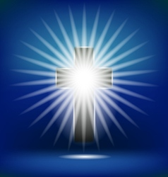Shining Cross Isolated vector image