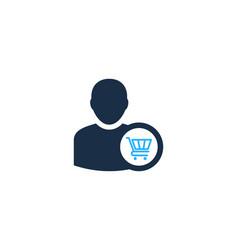 shop user logo icon design vector image