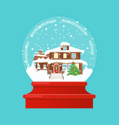 snow globe with a small vector image