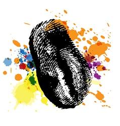 Thumbprint on ink splatter vector