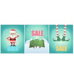 tiple christmas sale poster design vector image