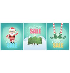tiple christmas sale poster desin vector image