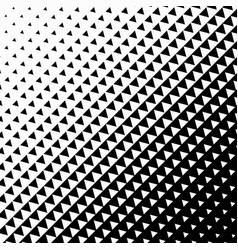 Triangle halftone on white background vector