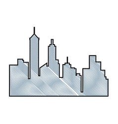 Urban cityscape view vector