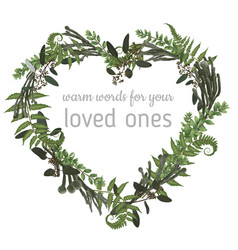 valentine greeting card invite card herbs vector image
