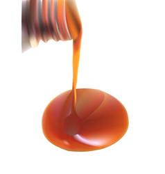 Vanilla essence pouring vector