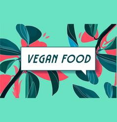vegan food in design banner template for vector image