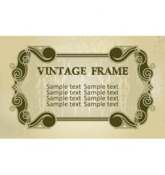 Vintage decorated boarder vector