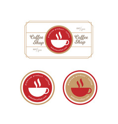 vintage retro coffee label and badge vector image