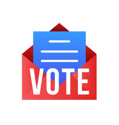 Vote mail stay safe concept 2020 united vector