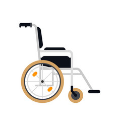 wheelchair in hospital flat material vector image