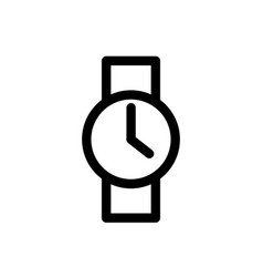 wrist watch line icon wristwatch accessory clock vector image