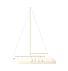 Yacht clip art sailboat vector