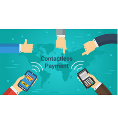 Business banner - contactless payment vector
