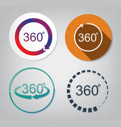 set of 360 degrees vector image