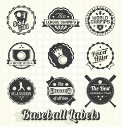 Vintage Quality Baseball Labels vector image vector image