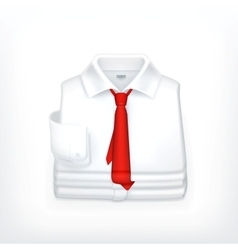 White Dress shirt vector image vector image