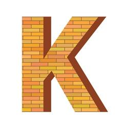 brick letter K vector image vector image