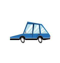 cartoon blue car transport model image vector image