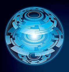 Fantasy Navigation Sphere vector image